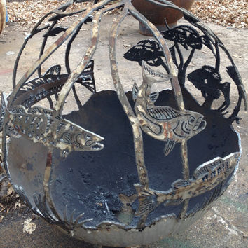 FIREBALL FIREPITS are individually handcrafted steel spheres.
