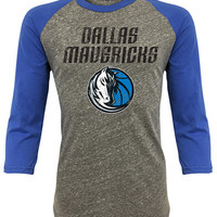 Dallas Mavericks Mens Raglan Fashion - Heather Grey