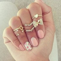6pcs/set Fashion Finger Rings Set