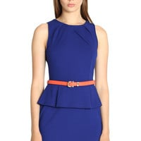 Azurite Peplum Dress