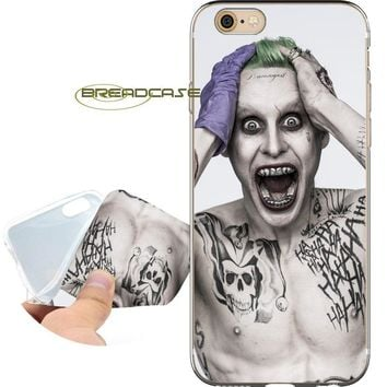Fundas Suicide Squad Joker Soft Clear TPU Silicone Phone Cases for iPhone X 8 7 6S 6 Plus 5S SE 5 5C 4S 4 iPod Touch 6 5 Cover.