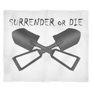 Surrender or Die Cross E-Tool Fleece Blanket