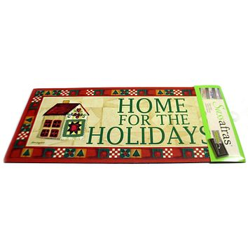 Home Decor Home For The Holidays Insert Door Mat