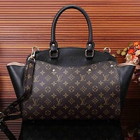 Perfect LV Women Shopping Bag Leather Satchel Shoulder Bag Tote Handbag Crossbody