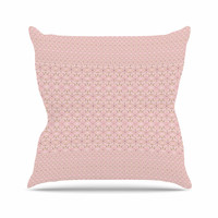 "Carolyn Greifeld ""Modern Shabby"" Pink Abstract Throw Pillow"