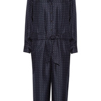 Rag & bone - Arthur polka-dot silk-twill jumpsuit