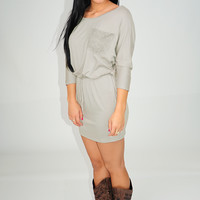 Slice Of Heaven Dress: Light Gray
