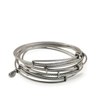 Set of 7 Thick Textured Bracelets | Alex and Ani