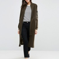 ASOS Coat In Wool Mix with Bomber Detail at asos.com