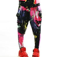 Paint Splatter Harem Lounge Pants