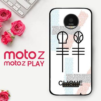 Twenty One Pilots Skeleton Clique X3438  Motorola Moto Z Play Case