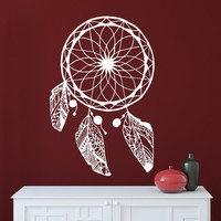 Dream Catcher Decal Wall Decals Bedroom Hippie Native American Vinyl Sticker Bohemian Bedding Home Decor Nursery Dorm Living Room T50