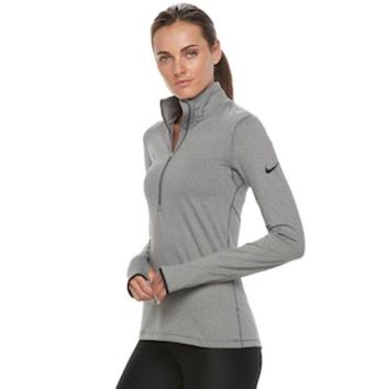 ONETOW Women's Nike Warm Long Sleeve Half-Zip Baselayer Top | null