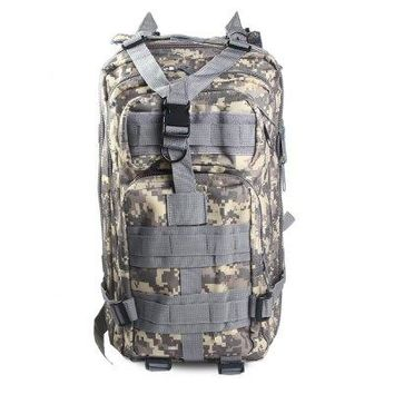 3-Pocket 30L Outdoor Military Backpack - Camo/Solid