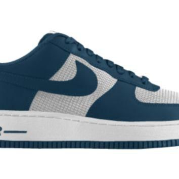 Nike Air Force 1 Low iD Custom Girls' Shoes 3.5y-6y - Blue
