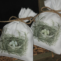 Birds Nest Lavender Sachets. Set of 2