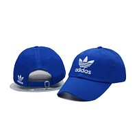 Blue Adidas Logo Cotton Baseball Golf Sports Cap Hats
