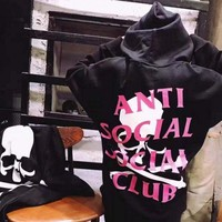 Anti Social Social Club Fashion Women Casual Pullover Hoodie Top Sweater ASSC