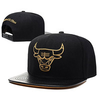 Saiqi-TY Unisex Adjustable Fashion Leisure Baseball Hat Chicago Bulls Snapback Dual Colour Cap