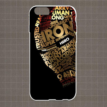 Ironman Typography iPhone 4/4S, 5/5S, 5C Series Hard Plastic Case