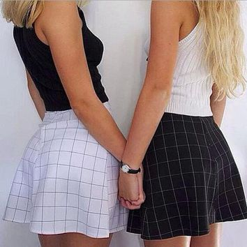ONETOW FASHION CHECKERED SKIRTS