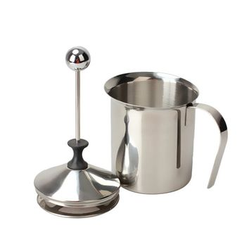 800ML Stainless Steel Milk Frother Cappuccino Creamer Foam Coffee Pull Flower Cup Double Mesh Milk Frothers Mugs