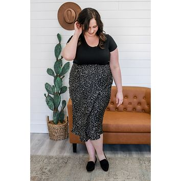 On The Dot Midi Skirt +