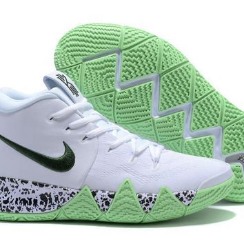 Nike Kyrie Irving 4 White/dark Green Sport Shoes Us7 12 | Best Deal Online