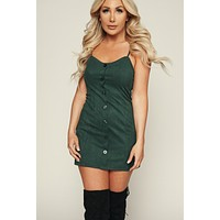 My Girl Corduroy Dress (Hunter Green)