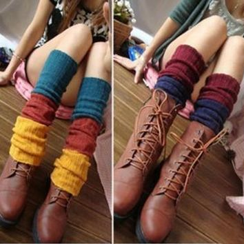 Hot Deal On Sale Winter Socks 3-color Knit Boots 6 pcs/set [47783411719]