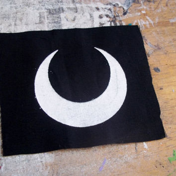 Crescent Moon patch - witchy spooky moon patch