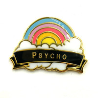 Psycho Rainbow Lapel Pin