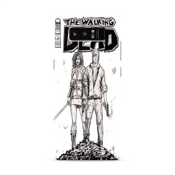 Walking Dead (michonne comics bw) Samsung Galaxy Note 8 Case