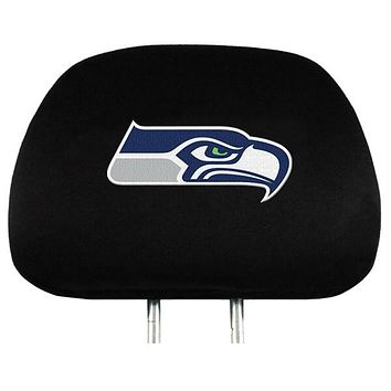Seattle Seahawks Premium Embroidered Headrest Covers