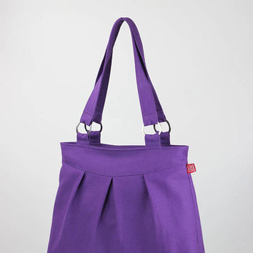 Lilac evening purse pleated bag metal accessories shoulder bag daily use purse pure cotton canvas bag carry all, different color available