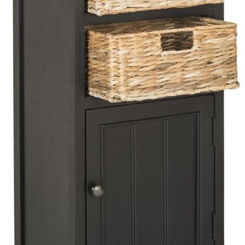 Connery Cabinet Distressed Black