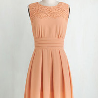 Pastel Mid-length Sleeveless A-line V.I.Pleased Dress in Peach