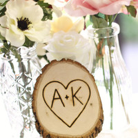 Personalized Tree Slice Wedding Decoration Custom Wood Sign