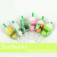 4Pcs/Set Starbucks Earphone Plug Anti Dust for iPhone Free Shipping - Default Title