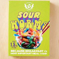24oz Sour Gummy Worms Candy- Lime One