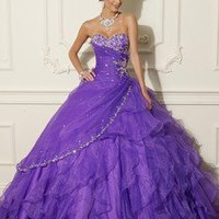 Purple A-Line Evening/Party/Prom Dress/Quinceanera/Ballgown/SZ 6 8 10 12 14 16