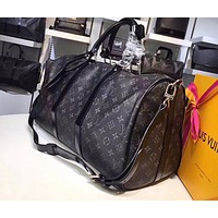 LV Fashion Sell Male and Female Printed Large Luggage Bags Black pattern printing Black pattern printing High-quality