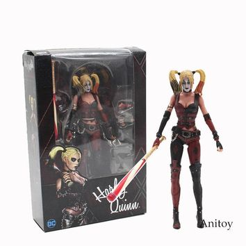 Batman Dark Knight gift Christmas NECA Batman Arkham City Harley Quinn 1/4 Scale PVC Action Figure Collectible Model Toy 16cm KT3754 AT_71_6
