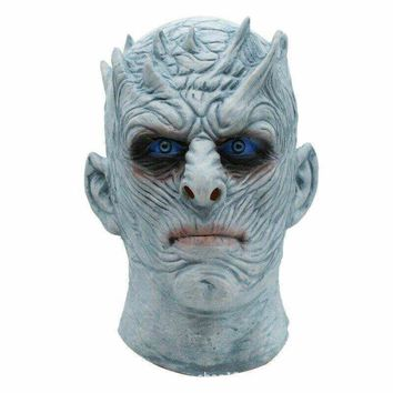 Hot Latex Game of Thrones Night King Mask Cool Halloween Party Movie Cosplay Full Face Zombie Masks Props Costumes For Adults