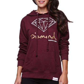 Diamond Supply Co Diamond Pullover Hoodie - Womens Hoodie - Red