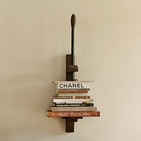 BOOK PRESS SHELF
