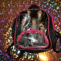 90s backstreet boys mini clear pvc mini backpack