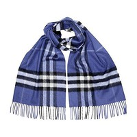 Burberry Women's Classic Check Scarf Thistle Blue