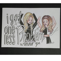 Problem - Ariana & Iggy Cartoon Print