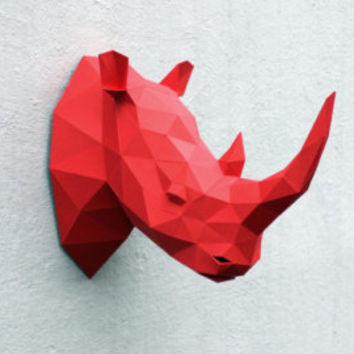 Rhino head - printed DIY kit